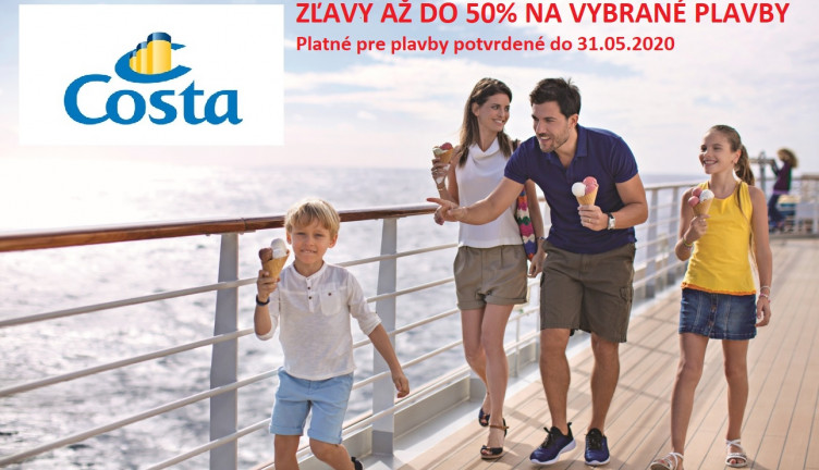 Costa Summer off up to 50%
